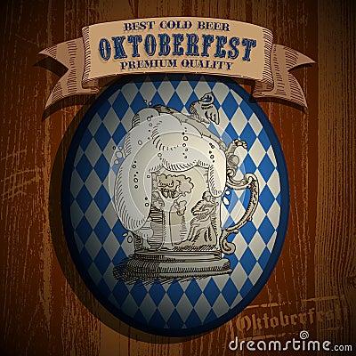 Beer background Oktoberfest, Editorial Photo