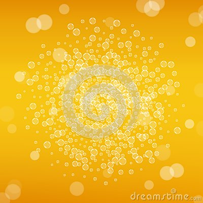 Free Beer Background With Realistic Bubbles Royalty Free Stock Images - 105864669