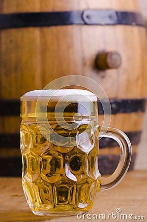 beer barrel.
