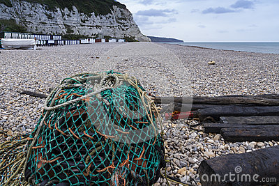 Beer Beach with Lobster Pot in foreground.
