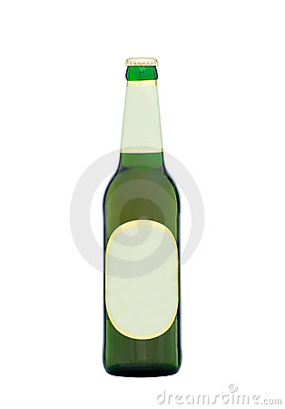 Beer bottle with blank labels