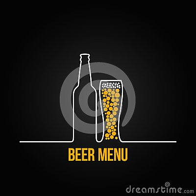 Free Beer Bottle Glass Deign Background Royalty Free Stock Photo - 37059735