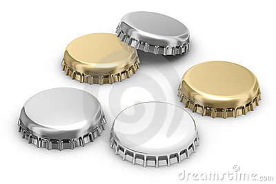 Beer caps (w clipping path)