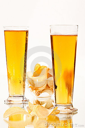 Beer and chip