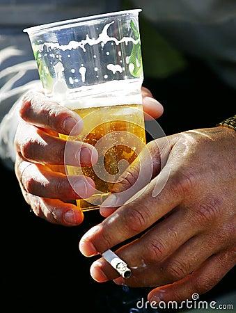 Beer and cigarette terrible pleasure