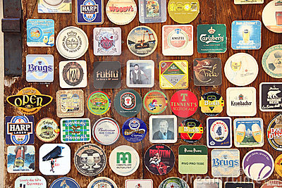 Beer coaster Editorial Stock Photo