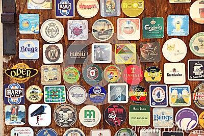 Beer coaster Editorial Stock Photo