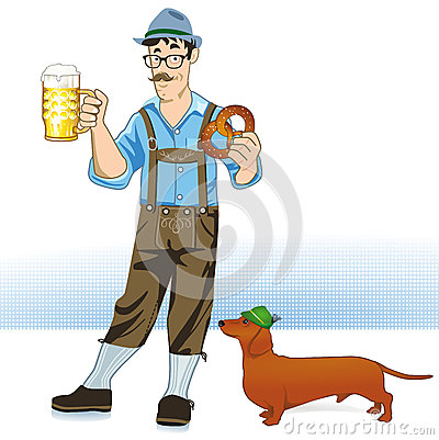 Beer drinker and dog