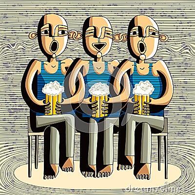 Beer drinking friends