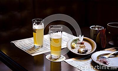 Beer and eaten meals