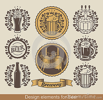 Free Beer Emblem Royalty Free Stock Photography - 27344297