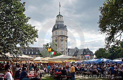 Beer festival in Karlsruhe, Germany Editorial Photo