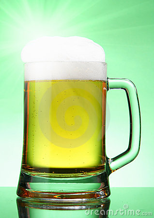 Beer with glare
