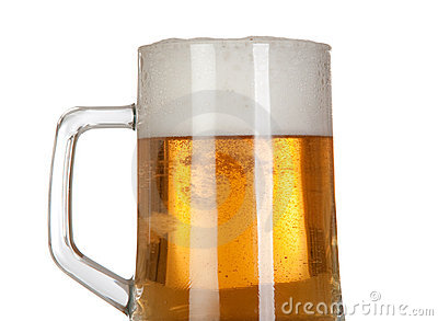 Beer in a glass jar