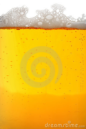 Beer glass macro
