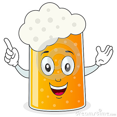 Beer Glass or Mug Cartoon Character