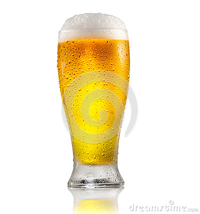 Free Beer. Glass Of Cold Beer With Water Drops. Craft Beer Isolated On White Stock Photos - 94978753