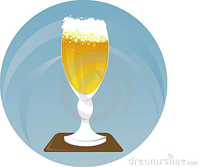 Beer glass. Vector Illustration