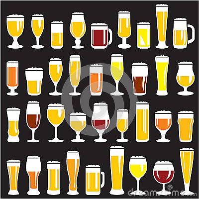 Free Beer Glasses Set Stock Photos - 27550543