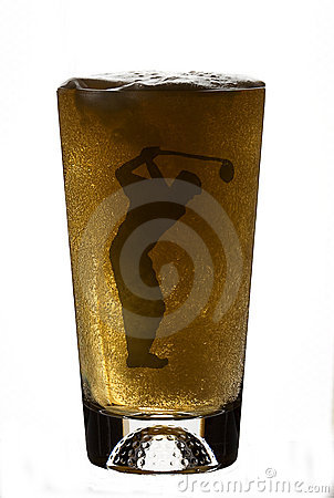 Beer In Golfer Beer Glass