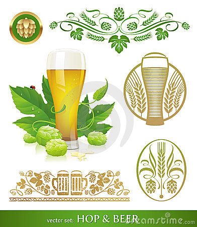 Free Beer, Hop And Brewing Royalty Free Stock Photos - 23459618