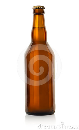 Free Beer In A Brown Bottle Stock Images - 24593854