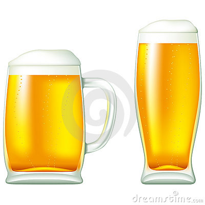 Free Beer In Glass And Mug Stock Images - 18126784