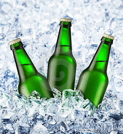 Free Beer Is In Ice Stock Image - 7351431