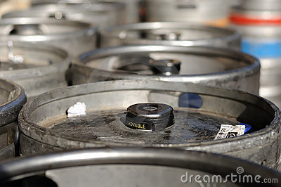 Beer kegs (top of barrels)