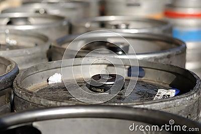 Beer kegs (top of barrels)