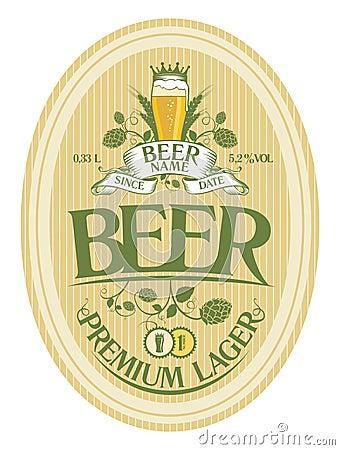 Free Beer Label Design. Stock Image - 28018021