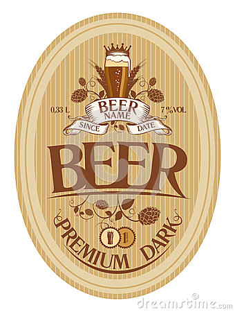 Free Beer Label Design. Stock Photography - 28018022