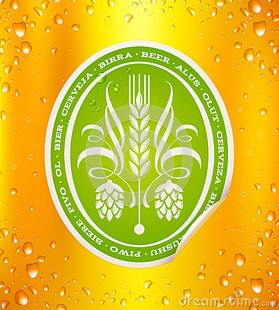 Free Beer Label On Beer Background Stock Images - 31422844