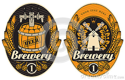 Beer labels Vector Illustration