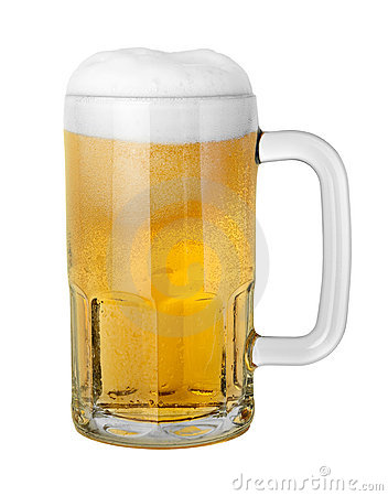 Beer in a Mug with clipping path