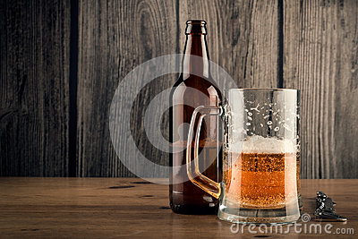 Beer mug and Beer Bottle
