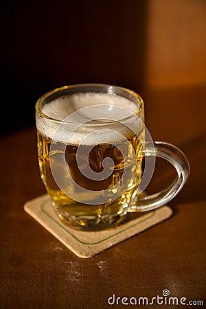 Beer mug on a coaster