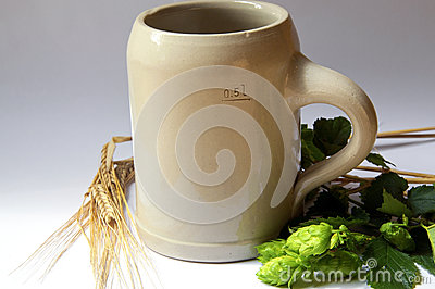 Beer Mug, Hops and Barley