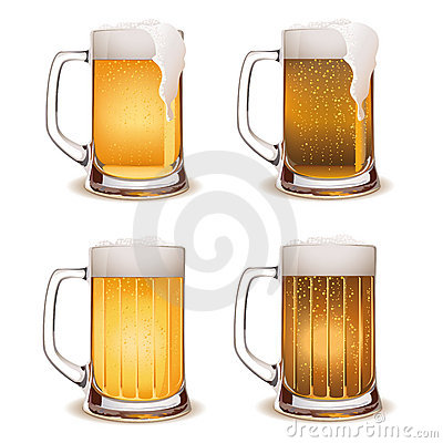 Beer mug light and dark vector