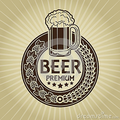 Free Beer Premium Retro Styled Seal / Label Royalty Free Stock Image - 29692476