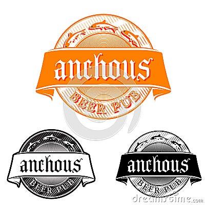 Beer pub emblem