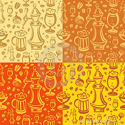 Beer pub seamless pattern