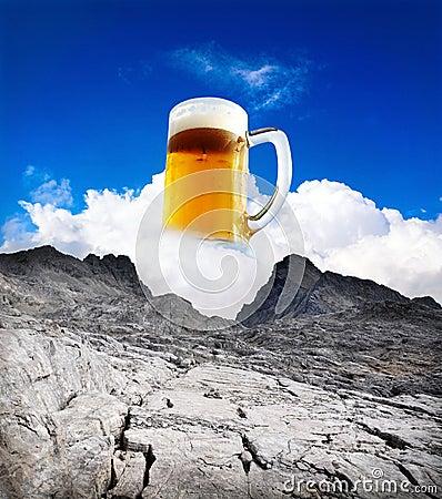 Beer refreshment summer