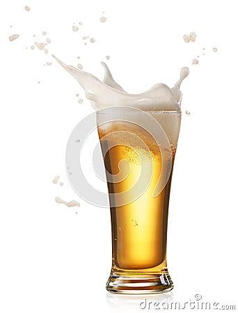 Free Beer Splash Royalty Free Stock Image - 62478556