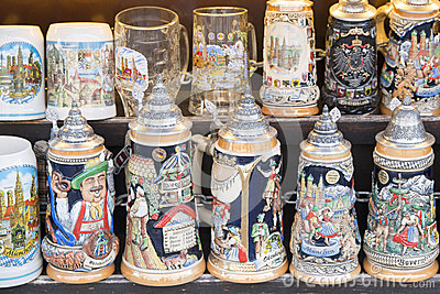 Beer stein as souvenirs
