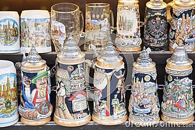 Beer stein as souvenirs
