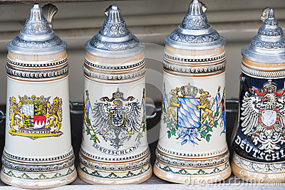 Beer stein in Munich