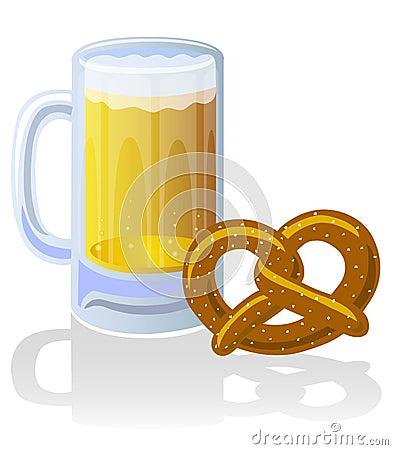 Beer Stein and Pretzel/eps
