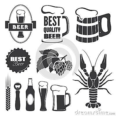 Free Beer Symbols Royalty Free Stock Photos - 39602948