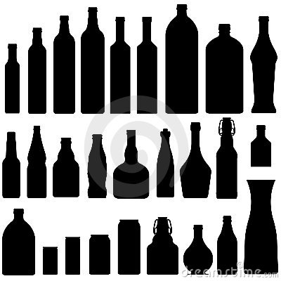 Free Beer, Wine, And Liquor Bottles In Vector Royalty Free Stock Photos - 8678338